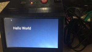 """hello world"" on pygame on my raspberry pi server"